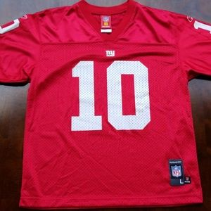 best website 76c81 4a3c6 Rare Red NY Giants Eli Manning NFL Players Jersey